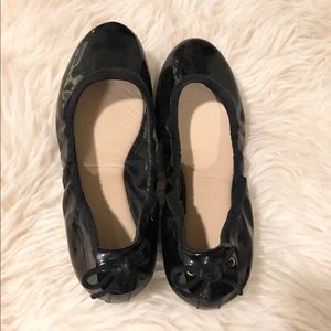 Cole Haan patented leather flats